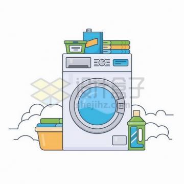 卡通风格洗衣机753072png矢量图片素材