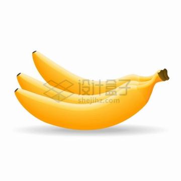 三根黄色香蕉美味水果png图片免抠矢量素材