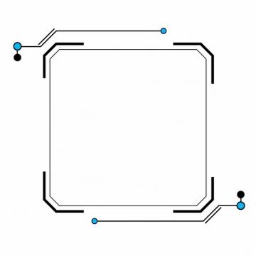 黑色扫码扫一扫二维码装饰边框379947AI矢量图片素材