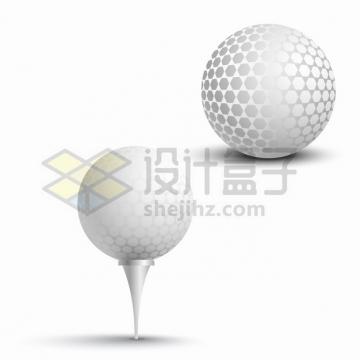 高尔夫球和球座体育运动球类png图片素材