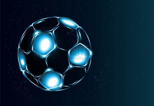 抽象光影足球图案png图片素材