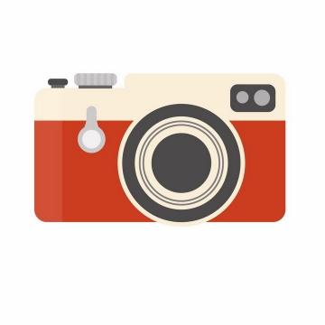 扁平化风格红色淡黄色照相机图标png图片免抠EPS矢量素材