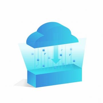 云计算蓝色科技云朵下载827826png矢量图片素材