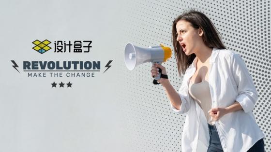 美女拿着喇叭高喊广告psd样机图片模板素材