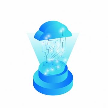 云计算蓝色科技电路417714png矢量图片素材