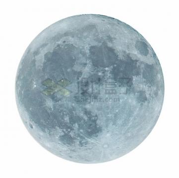 淡蓝色的月球照片png图片素材
