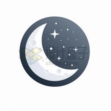 月亮和星空logo设计406755png矢量图片素材