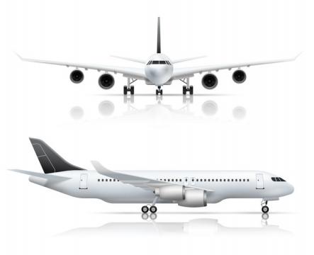 带倒影的大型客机飞机图片免抠素材
