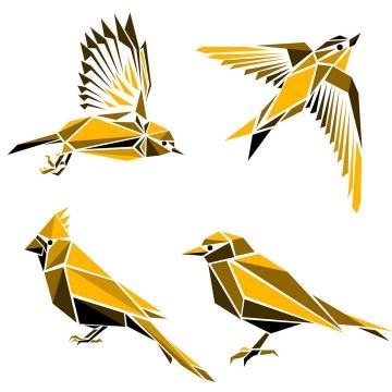 多边形组成的燕子小鸟免扣图片素材