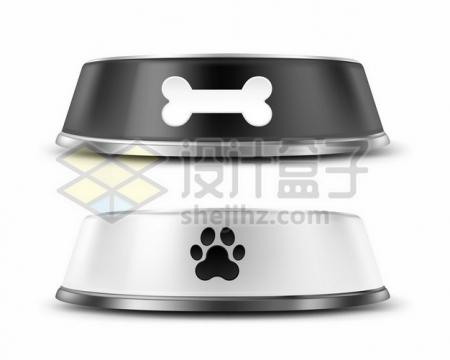 狗食盆和猫食盆狗碗猫碗宠物用品664678png矢量图片素材