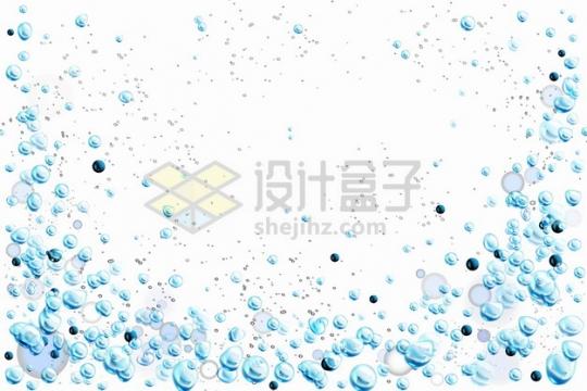 水中冒出来的蓝色泡泡水泡气泡装饰png图片素材