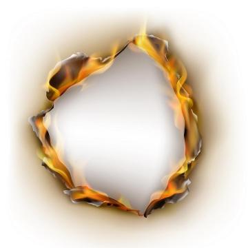 燃烧着的纸张上的火焰效果图片免抠素材
