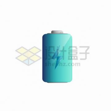 蓝色的充电电池电量符号图标png图片素材