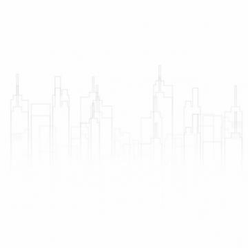 灰色线条高楼大厦城市天际线310236免抠图片
