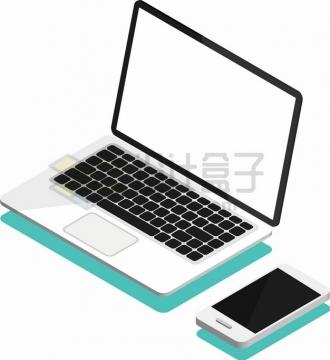 白色笔记本电脑和手机png图片素材5112547