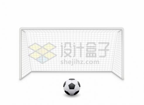 足球门足球网正面和足球体育设施png图片免抠矢量素材