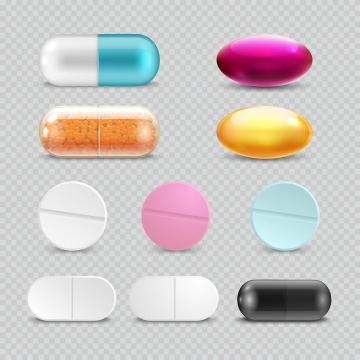 各种药丸胶囊药片医疗用品图片免抠素材