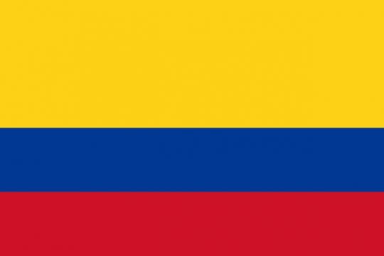 标准版哥伦比亚国旗图片素材