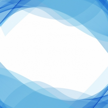 蓝色弧形波浪形装饰边框396105png图片素材