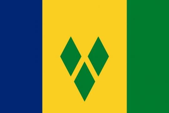 标准版圣文森特和格林纳丁斯国旗图片素材