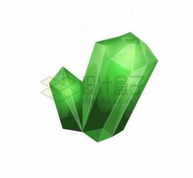 绿色的卡通水晶游戏宝石道具png图片免抠矢量素材