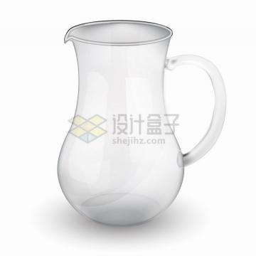 广口玻璃瓶果汁凉水壶png图片免抠eps矢量素材