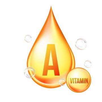 黄色液滴维生素A营养元素维他命保健品png图片免抠EPS矢量素材