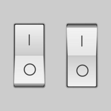 逼真的立体开关按钮免扣图片素材
