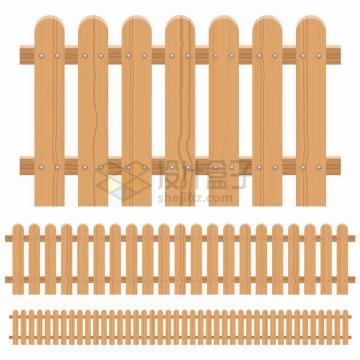 木栅栏围栏插画png图片素材
