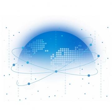 蓝色科技风格地球模型392358png图片素材