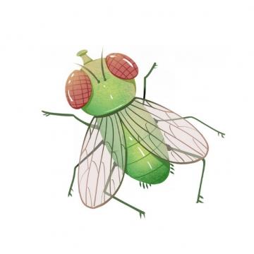 绿色卡通苍蝇561287png图片素材