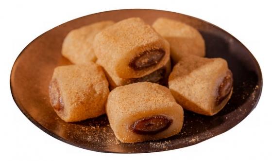 一盘驴打滚北京传统小吃美食194051png图片素材