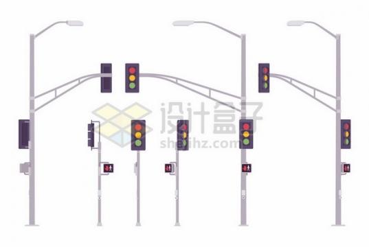 各种红绿灯和路灯灯杆360816png矢量图片素材