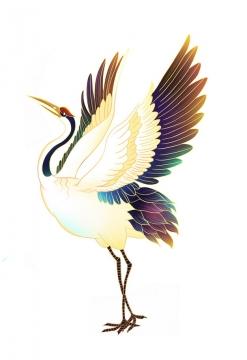 中国风优雅丹顶鹤仙鹤手绘插画228328png图片免抠素材