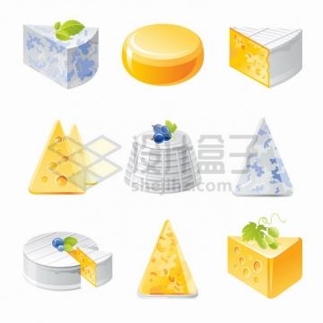 9款奶酪干酪美味西餐美食png图片素材