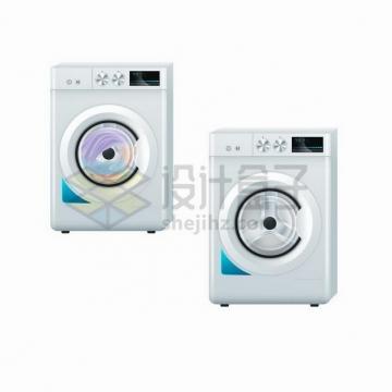 两个工作中的滚筒洗衣机571834png矢量图片素材