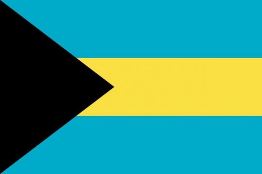 标准版巴哈马国旗图片素材