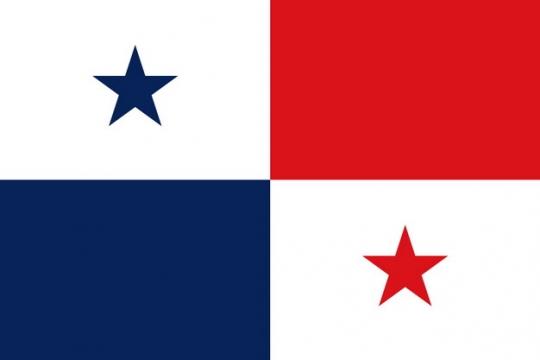 标准版巴拿马国旗图片素材
