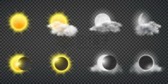 日食和月食示意图342109png矢量图片素材