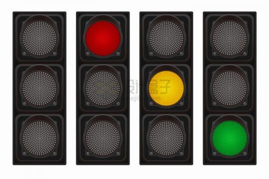 红绿灯交通灯红灯黄灯绿灯亮起png图片素材