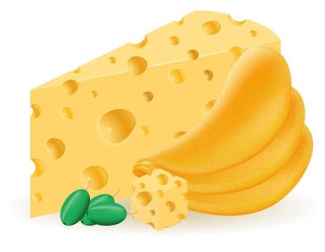 薯片和奶酪美食零食免抠矢量图片素材