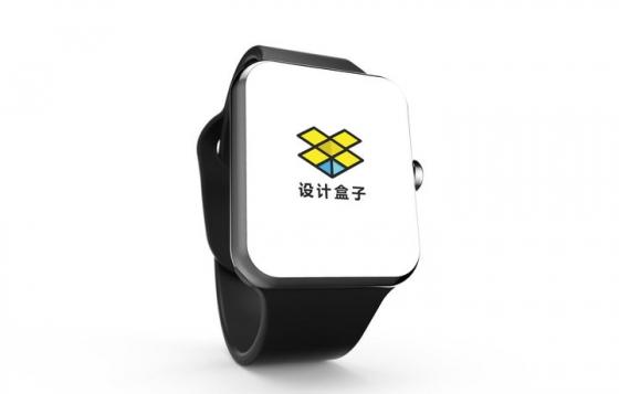 黑色苹果iWatch智能手表屏幕显示样机图片设计模板素材