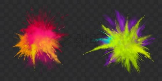 2款彩色粉末爆炸效果116972png矢量图片素材