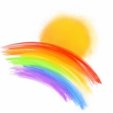 涂鸦太阳和彩虹627758png图片素材