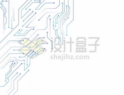 蓝色线条电线电路装饰687015png矢量图片素材