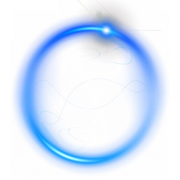 抽象发光蓝色光环装饰378254png图片素材