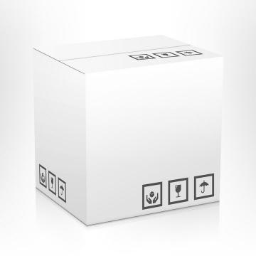 白色包装箱包装纸盒子免抠矢量图片素材