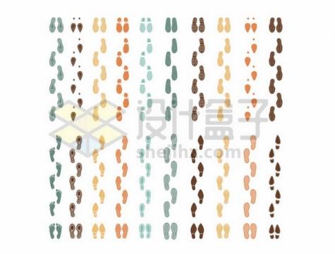 20款脚印鞋印图案711760png矢量图片素材