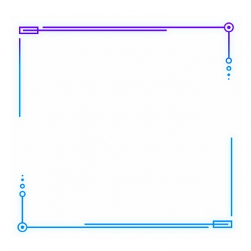 简约紫色和蓝色线条边框690107png图片素材