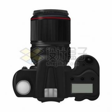 俯视视角的数码单反相机351651png矢量图片素材